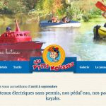 Page d'accueil du site Internet Les p'tits mousses