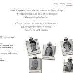 Page de présentation des architectes Archimage et associées