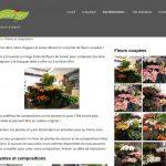 Page des fleurs coupées et composition du site Internet Au Vertige