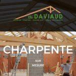 Page d'accueil du site Menuiserie Charpente Daviaud
