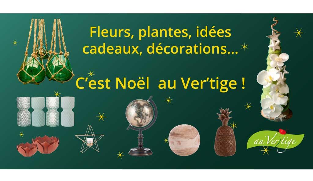 Flyer pour la promotion de Noël de la boutique Au Vertige