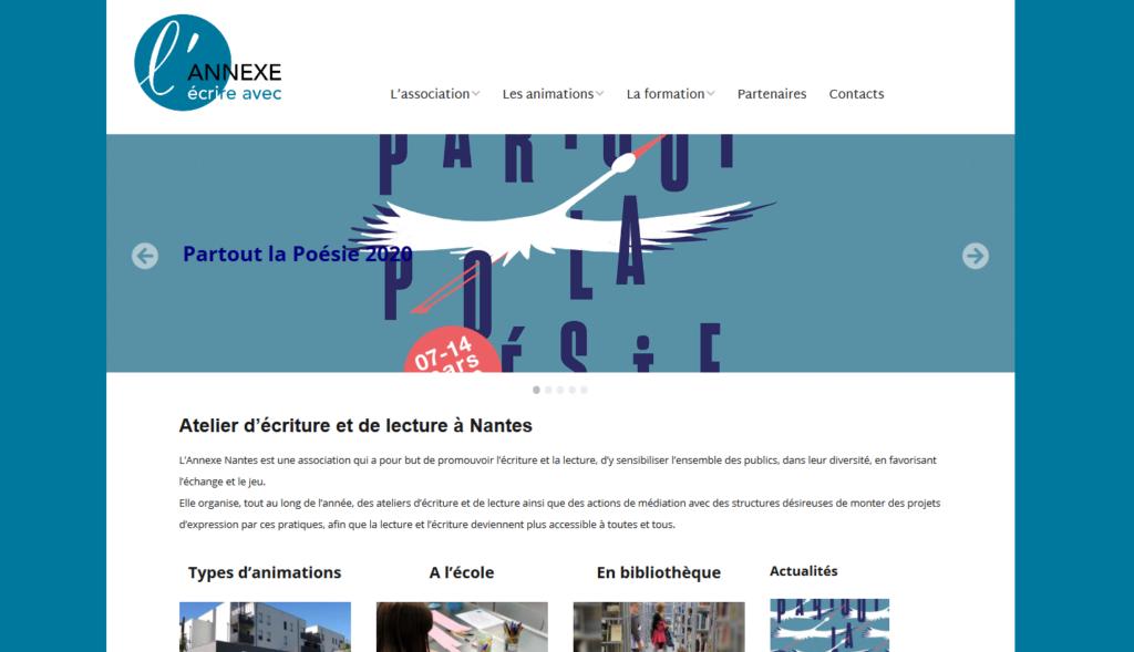 page d'accueil du site de l'Annexe à Nantes