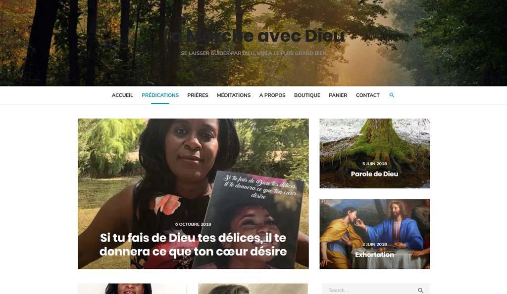 Page des prédications du site La Marche avec Dieu