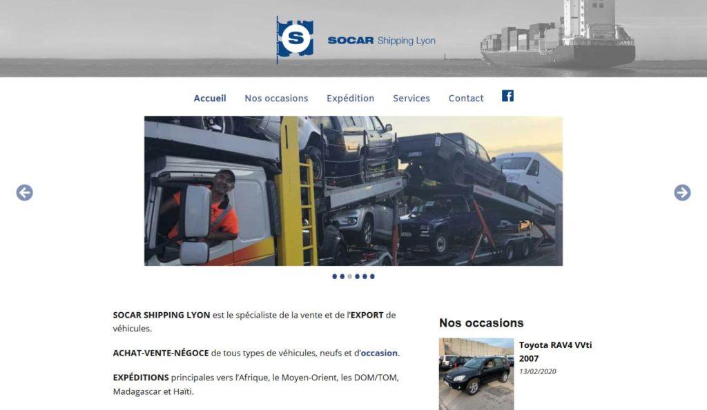 Page d'accueil du site Internet de SOCAR Shipping Lyon